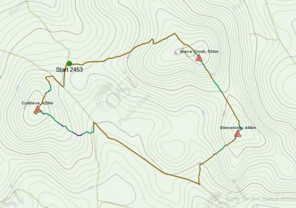 Walk 18 - Route Map 8.9kms - 1hr 58mins