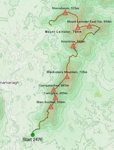 Walk 21 - Route Map 37.9kms - 8hr 10mins