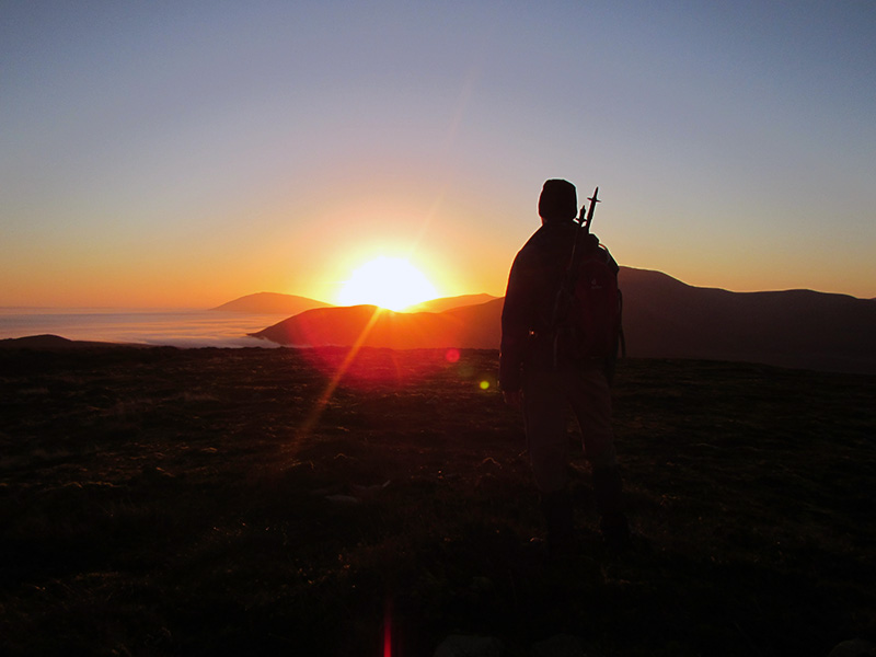 Sunrise on Knocklettercuss in North Mayo.